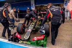 Team Lotuss F1, Pastor Maldonado, 2015 lizenzfreies stockbild