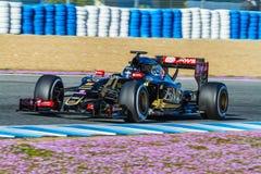 Team Lotuss F1, Romain Grosjean, 2015 lizenzfreie stockfotos