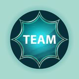 Team magical glassy sunburst blue button sky blue background royalty free stock photo