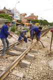Team maintenance of the railway Stock Photography