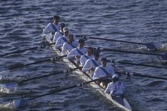 Team of Male Rowers, Charles Regatta, Cambridge, Massachusetts Royalty Free Stock Photos