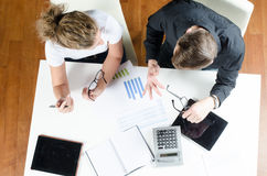 Team, man and woman planning revenues Royalty Free Stock Photography