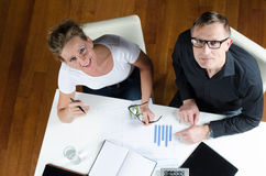 Team, man and woman planning revenues Royalty Free Stock Image