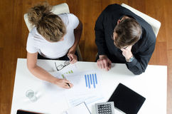 Team, man and woman planning revenues Royalty Free Stock Photos