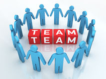 Team Management. 3d render Team Management (close-up Stock Photos
