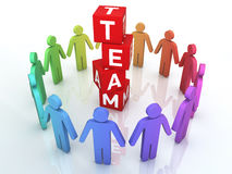 Team Management. 3d render Team Management colorful (close-up Stock Photo