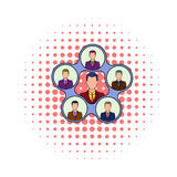 Team management icon, comics style Royalty Free Stock Photos