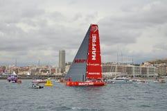 Team Mapfre Heads For South África Fotografia de Stock Royalty Free