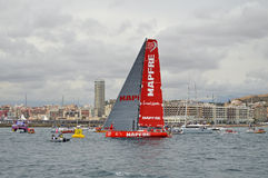 Team Mapfre Heads For South Afrika Royaltyfri Fotografi