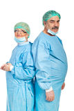 Team of mature surgeons Royalty Free Stock Photos