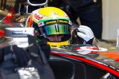 Team McLaren F1, Lewis Hamilton, 2012 lizenzfreie stockbilder