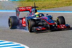 Team McLaren F1, Lewis Hamilton, 2012 stockfotografie