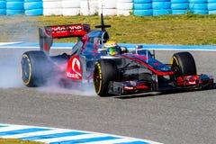 Team McLaren F1, Lewis Hamilton, 2012 Stock Photos