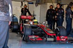 Team McLaren F1, Lewis Hamilton, 2012 Royalty Free Stock Image