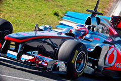 Team McLaren F1, Jenson Button, 2011 royalty free stock photos