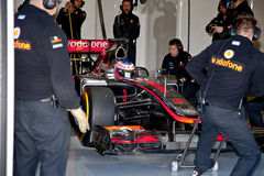 Team McLaren F1, Jenson Button, 2012, 2012 Royalty Free Stock Photo