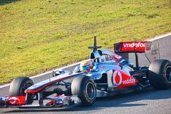 Team McLaren F1, Lewis Hamilton, 2011 Stock Photos
