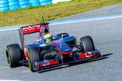 Team McLaren F1, Lewis Hamilton, 2012 lizenzfreies stockfoto