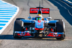 Team McLaren F1, Lewis Hamilton, 2012 Royalty Free Stock Photos
