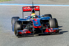 Team McLaren F1, Lewis Hamilton, 2012 Royalty Free Stock Photo