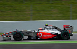 Team McLaren - Heikki Kovalainen Royalty Free Stock Images