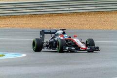 Team McLaren Honda F1, Fernando Alonso, 2015 lizenzfreie stockfotos