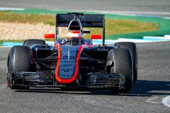 Team McLaren Honda F1, Jenson Button, 2015 image libre de droits