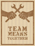 Team means together Stock Photography
