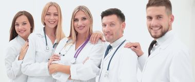 Team of medical professionals  looking at camera, smiling. Royalty Free Stock Photography
