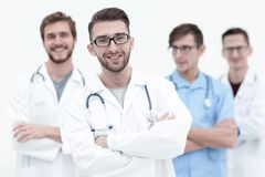 Team of medical professionals. Photo with copy space royalty free stock photography