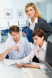 Team at meeting Royalty Free Stock Photo