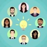 Team Meeting Brainstorming Planning-Vektorillustration Stockbilder