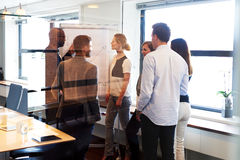Team meeting in conference room Royalty Free Stock Photo