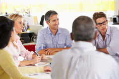 Team Meeting In Creative Office Stock Photography