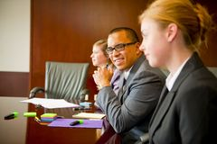 Team Meeting with Male in Focus Royalty Free Stock Photos