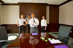 Team Meeting with Male in Foreground Royalty Free Stock Images