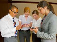 Team Meeting Sending Text Messages Royalty Free Stock Images