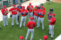 A Team Meeting at 2015 Spring Training Royalty Free Stock Photography