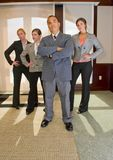 Team Meets and Stand with Attitude Royalty Free Stock Image