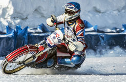Team Mega Lada. Russia. The Republic Of Bashkortostan. The Ufa. Racing on ice. The Championship Of Russia. A final . February 1, 2014 Stock Image