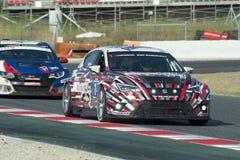 Team Memac Ogilvy Racing SEAT Leon Cup Racer 24 uren van Barcelona Stock Foto's