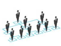 Team members. Illustration of flow chart of Team members Stock Photos