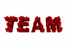 Team Members Working Together Teamwork Word. 3d Illustration Royalty Free Stock Images