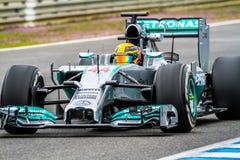 Team Merceces F1,  Lewis Hamilton, 2014 Stock Photography