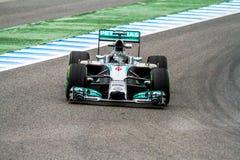 Team Mercedes F1, Nico Rosberg, 2014 Stock Afbeeldingen
