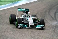 Team Mercedes F1, Nico Rosberg, 2014 Fotografering för Bildbyråer