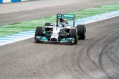 Team Mercedes F1, Nico Rosberg, 2014 Royalty-vrije Stock Foto