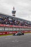 Team Mercedes F1, Nico Rosberg, 2014 Royalty-vrije Stock Afbeeldingen