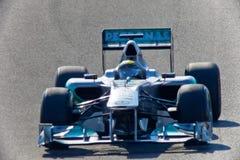 Team Mercedes F1, Nico Rosberg, 2011 Royaltyfria Bilder