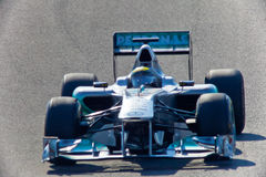 Team Mercedes F1, Nico Rosberg, 2011 Royalty Free Stock Images